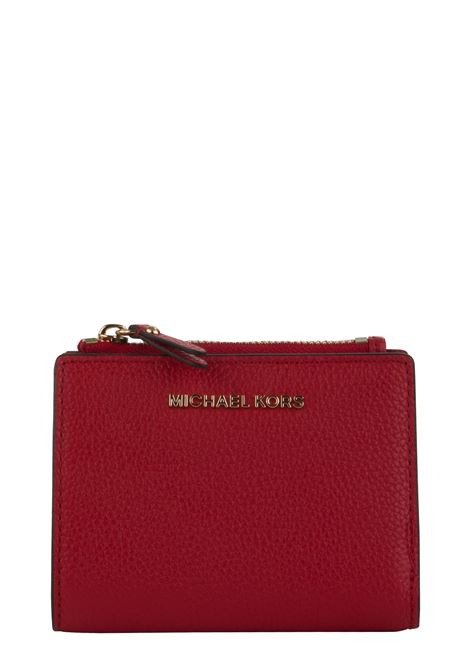 RED WALLET WITH FRONT LOGO MICHAEL DI MICHAEL KORS | Wallets | 34F9GJ6F2L683JETSET683