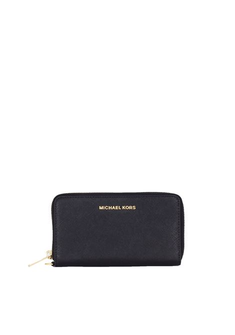 JET SET TRAVEL WALLET IN SAFFIANO LEATHER MICHAEL DI MICHAEL KORS | Wallets | 34F9GTVE3L001JETSET001