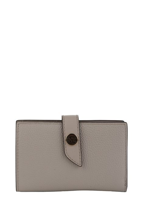 BEIGE MK CHARM WALLET IN HAMMERED LEATHER MICHAEL DI MICHAEL KORS | Wallets | 34S0G00E2L182MKCHARM182