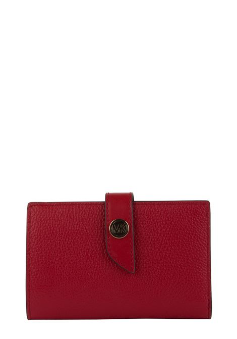 RED MK CHARM WALLET IN HAMMERED LEATHER MICHAEL DI MICHAEL KORS | Wallets | 34S0G00E2L683MKCHARM683