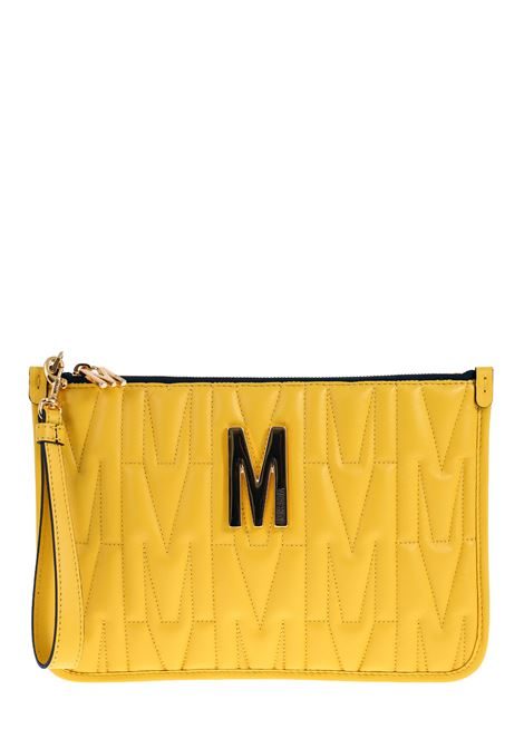 YELLOW CLUTCH IN QUILTED LEATHER MOSCHINO | Clutches | 84158002028