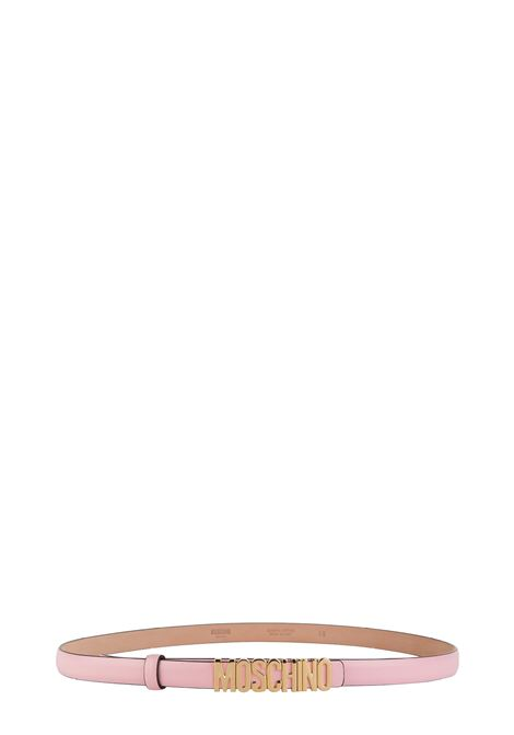 PINK BELT WITH GOLD LOGO MOSCHINO | Belts | A80088001242