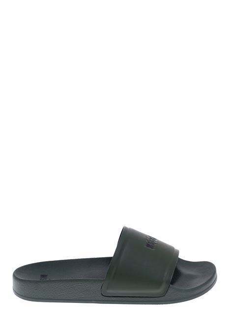 GREEN POOL SLIDE LOW SANDAL WITH LOGO MSGM | Slide Sandals | 2840MS1520873237