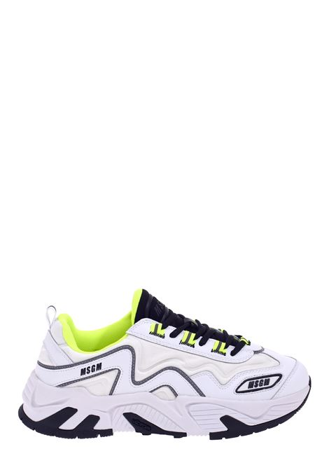 WHITE VORTEX SNEAKERS MSGM | Sneakers | 2840MS700114001