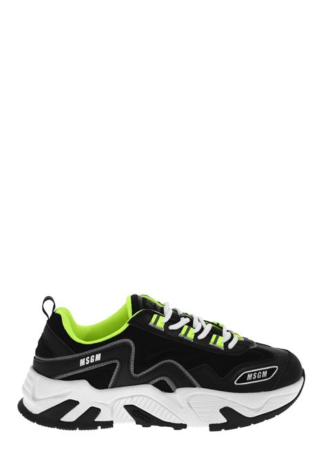 BLACK VORTEX SNEAKERS MSGM | Sneakers | 2840MS700114099