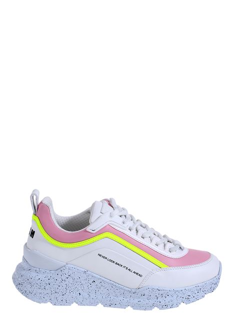 WHITE LOW-TOP SNEAKERS IN LEATHER MSGM | Sneakers | 2841MDS21117312