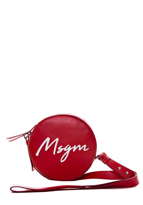RED LEATHER BAG WITH FRONT LOGO PRINT MSGM | Bags | 2841MDZ2045018