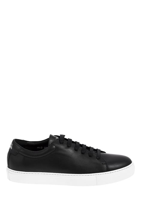 BLACK LEATHER SNEAKERS NATIONALSTANDARD | Sneakers | M0320S090NERO