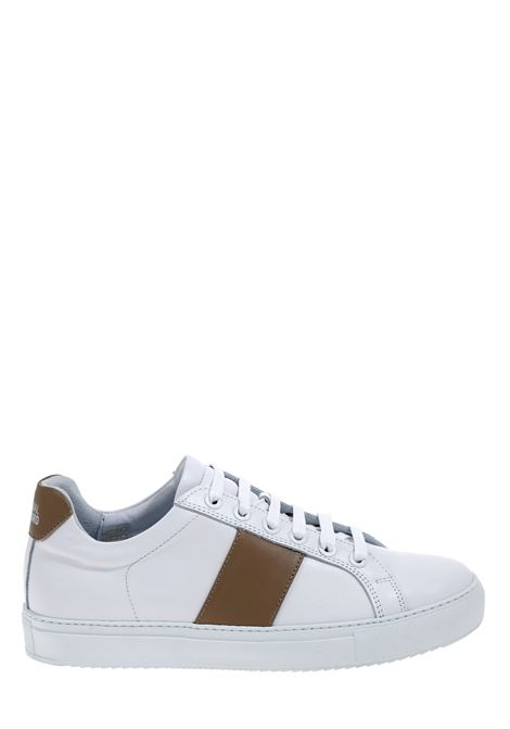 WHITE LEATHER SNEAKERS WITH CONTRAST BAND NATIONALSTANDARD | Sneakers | M0420S008BIANCO/BEIGE