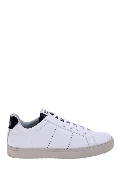 SNEAKERS IN PELLE BIANCA NATIONALSTANDARD | Sneaker | M0420SSOF09BIANCO/NERO