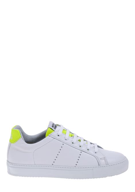 WHITE LEATHER SNEAKERS NATIONALSTANDARD | Sneakers | M0420SSOF17BIANCO/GIALLO