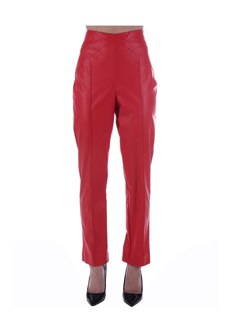 RED LEATHER TROUSERS Nude | Pants | 110381624