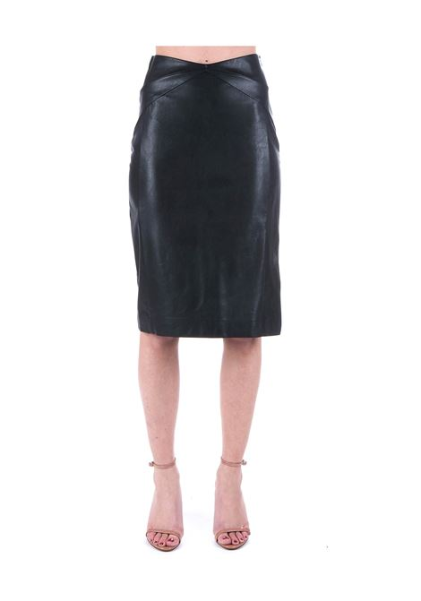 BLACK SKIRT IN IMITATION LEATHER Nude | Skirts | 110381709