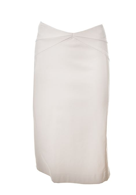 WHITE SKIRT IN IMITATION LEATHER Nude | Skirts | 1103817BIANCO