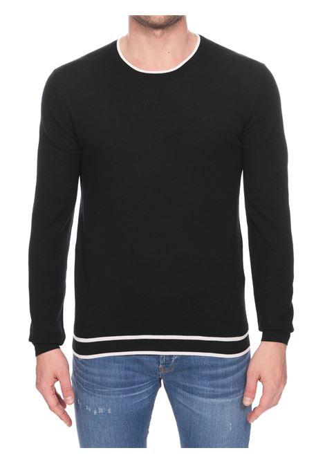 BLACK FINEZZA 16 SWEATER IN COTTON PAOLO PECORA | Sweaters | A019F1009000