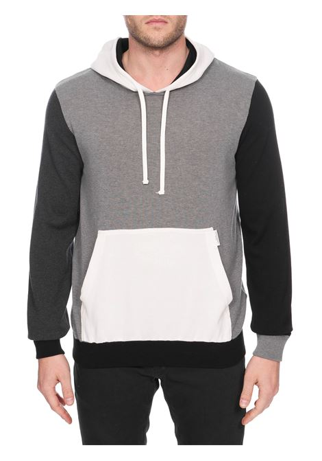 MULTICOLOR COTTON SWEATER WITH HOOD PAOLO PECORA | Sweaters | A05776040001