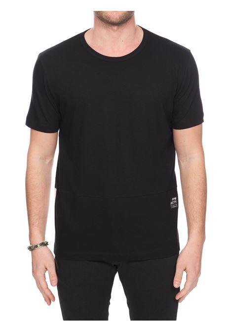 T-SHIRT NERA IN JERSEY DI COTONE PAOLO PECORA | T-shirt | F08141579000