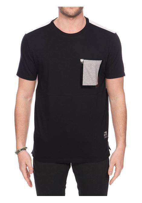 T-SHIRT NERA IN JERSEY DI COTONE PAOLO PECORA | T-shirt | F12141579000