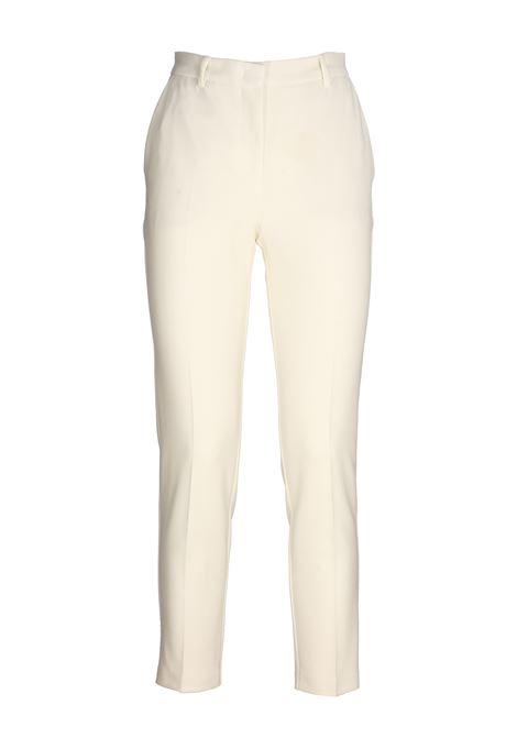 DOUBLE DIAGONAL WHITE BELLA 15 PANTS PINKO | Pants | BELLA15 1G14TG7873Z05