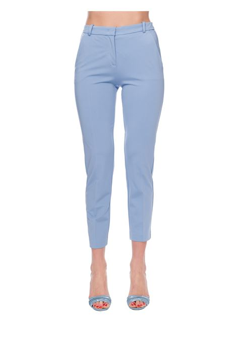 BEAUTIFUL LIGHT BLUE TROUSERS IN CLOTH POINT PINKO | Pants | BELLO83 1G14TS5872E83