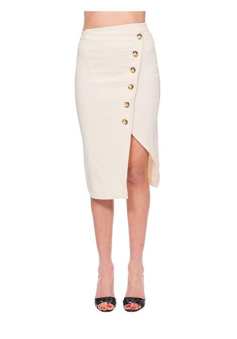 BEIGE BONTAN LONGUETTE LINEN SKIRT PINKO | Skirts | BONTAN1B14EU7435C00