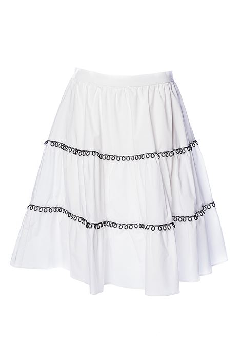 WHITE SKIRT FINN 1 IN COTTON POPLIN WITH EMBROIDERY PINKO | Skirts | FINN1 IB14M58012Z04