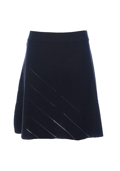 BLACK MINI SKIRT GALLINARA WITH AJOUR OBLIQUE POINT PINKO | Skirts | GALLINARAIB14JAY681Z99