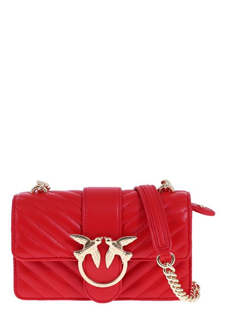 MINI RED LOVE BAG IN QUILTED NAPPA LEATHER PINKO | Bags | LOVEMINIMIXCL1P21PDY677R24