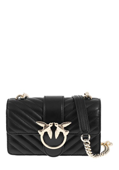 MINI BLACK LOVE BAG IN QUILTED NAPPA LEATHER PINKO | Bags | LOVEMINIMIXCL1P21PDY677Z99