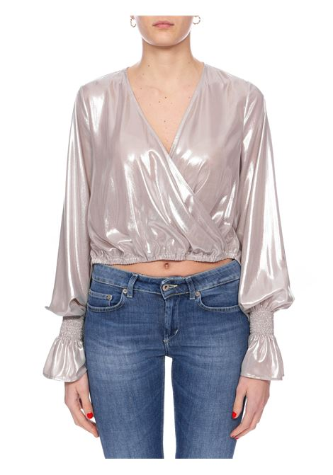 MAYONNAISE BLOUSE IN LAMINATED GEORGETTE PINKO | Blouse | MAIONESE1G14T5Y63DI17