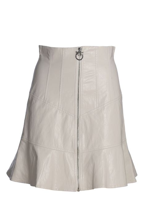 WHITE Cassava faux leather skirt PINKO | Skirts | MANIOCA1G14PU7866Z14