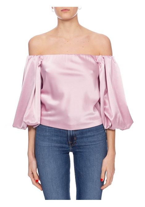 BLUSA ROSA MOUSSE IN SATIN PINKO | Blusa | MOUSSE1 1G14UY7914Y24