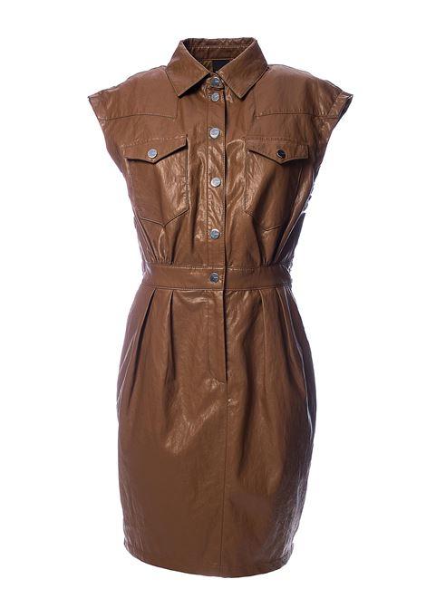 BEIGE SAVARIN FAUX LEATHER DRESS PINKO | Dress | SAVARIN1G14LX7866C93