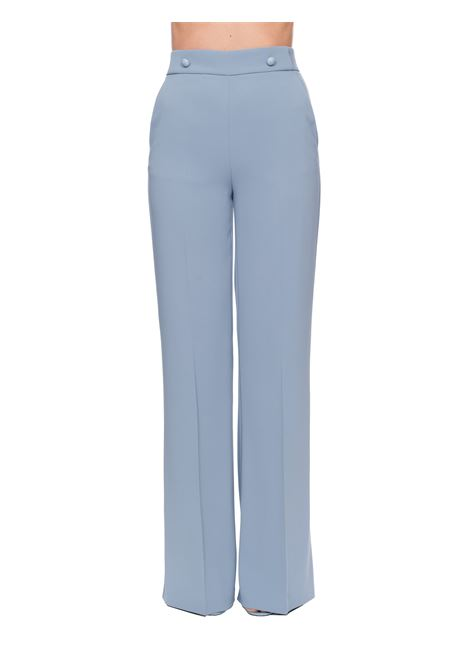 LIGHT BLUE PANTS SLACK 2 IN CREPE PINKO | Pants | SBOZZARE2 1G14RB7624E57