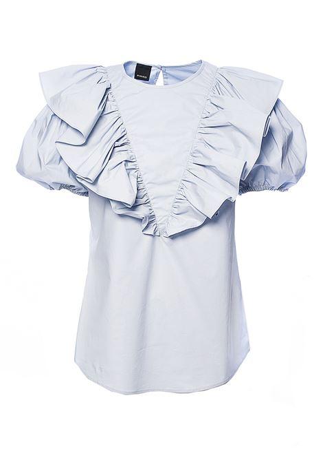 LIGHT BLUE SHIRT COTTON POPELIN SKEWERS PINKO | Shirts | SPIEDINI1G14WP7905G70