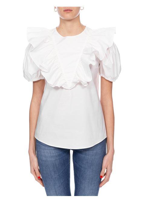 WHITE SHIRT COTTON POPELIN SKEWERS PINKO | Shirts | SPIEDINI1G14WP7905Z04