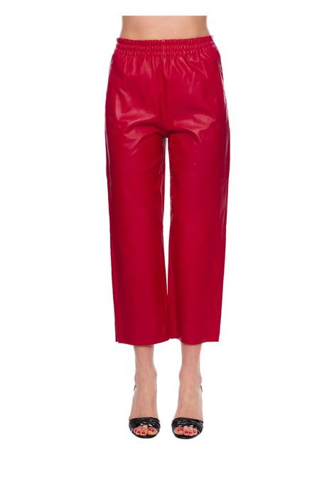 RED TOAST LEATHER PANTS PINKO | Pants | TOAST1G14P2Y638R59