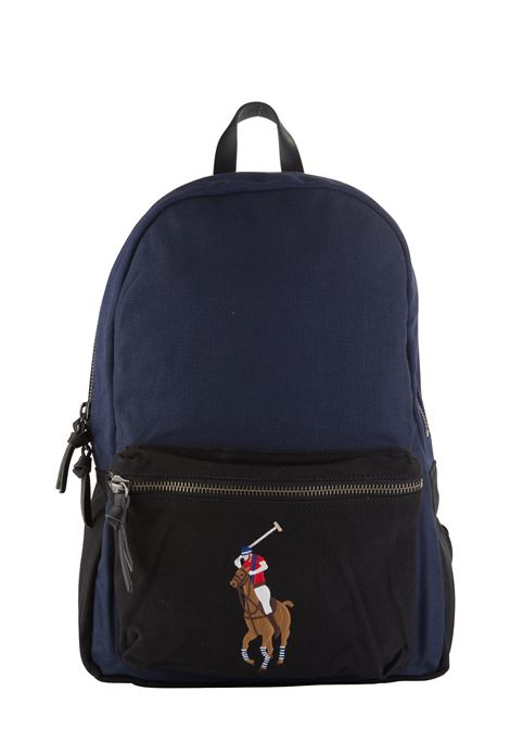 BLUE BACKPACK WITH FRONT LOGO EMBROIDERY POLO RALPH LAUREN | Backpacks | 405688142002