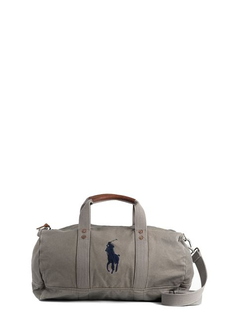 GRAY TRAVEL BAG WITH FRONT LOGO EMBROIDERY POLO RALPH LAUREN | Bags | 405769876001