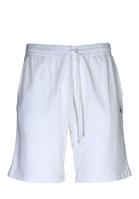WHITE  COTTON SHORTS WITH FRONT LOGO EMBROIDERY POLO RALPH LAUREN | Bermuda Shorts | 710704271004