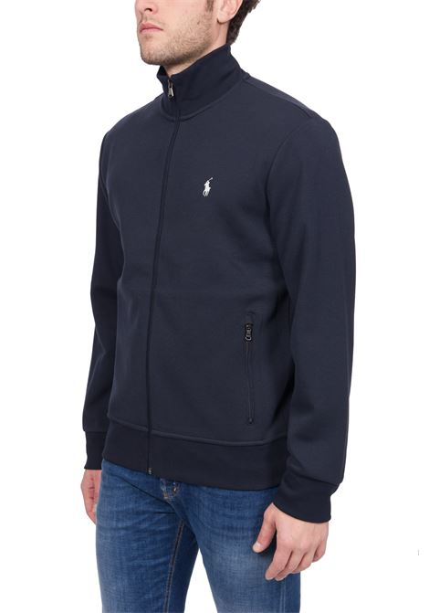 BLUE SWEATSHIRT WITH FRONT LOGO EMBROIDERY POLO RALPH LAUREN | Sweatshirts | 710766861007