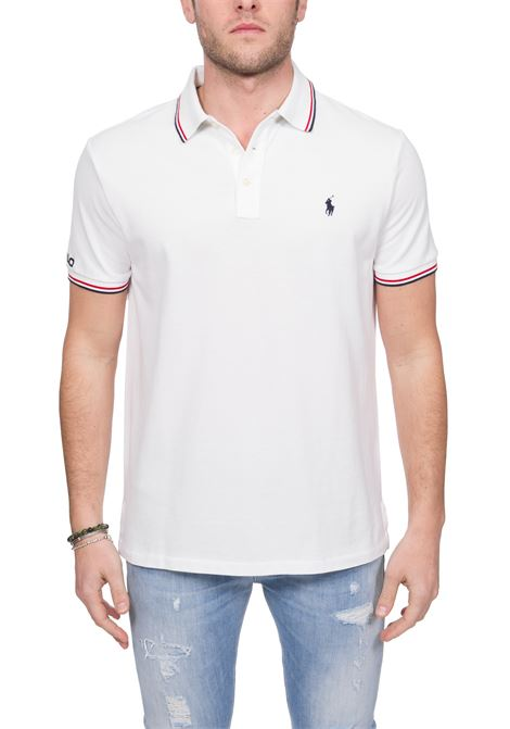 WHITE COTTON POLO WITH FRONT LOGO EMBROIDERY POLO RALPH LAUREN | Polo Shirts | 710792813002