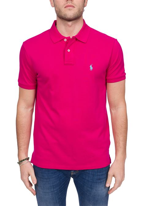 FUCISA COTTON POLO WITH FRONT LOGO EMBROIDERY POLO RALPH LAUREN | Polo Shirts | 710795080031