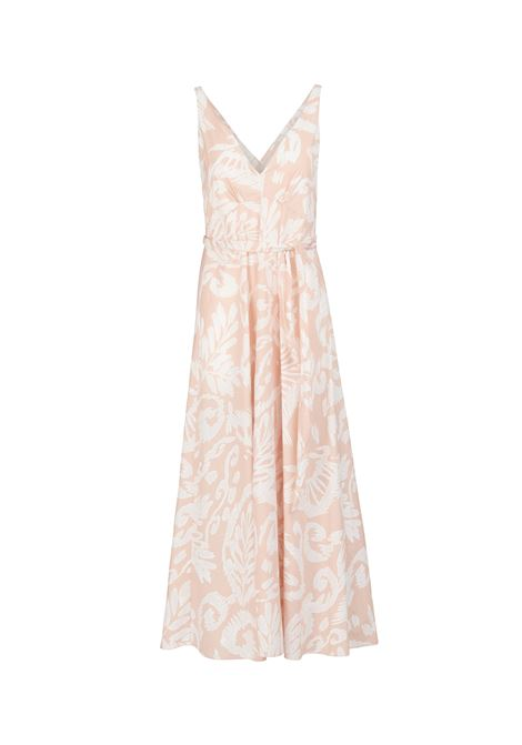 LONG COTTON DRESS WITH ALL OVER FLORAL PRINT POMANDERE | Dress | 20132081052750
