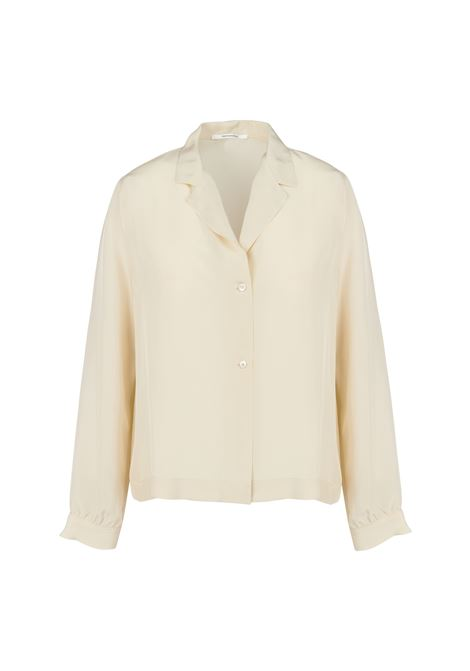 SOFT BEIGE SHIRT WITH COLLAR POMANDERE   Shirts   20192902066512