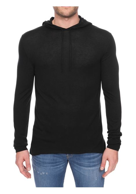 BLACK CASHMERE BLEND SWEATER ROBERTO COLLINA | Sweaters | RC18007RC1809
