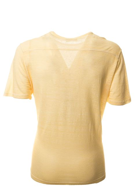 YELLOW T-SHIRT IN LINEN BLEND ROBERTO COLLINA | T-shirt | RC61021RC6143