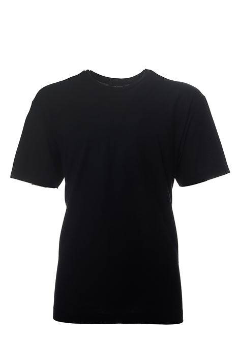 BLACK COTTON T-SHIRT ROBERTO COLLINA | T-shirt | RC90321RC9009