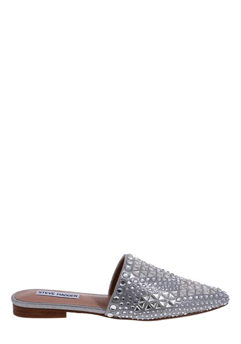 SILVER MULES WITH FRONT APPLICATION STEVE MADDEN | Mules | SMSTIARARHI