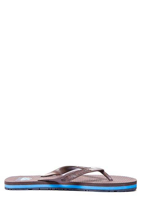 BROWN RUBBER THONGS WITH LOGO PRINT SUNDEK | Slide Sandals | 9AMSD30/106MARRONE